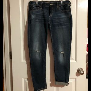 NWT JUNIORS distressed ARIZONA ANKLE JEANS Sz 11